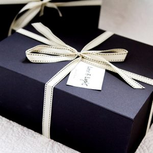 black gift box packaging