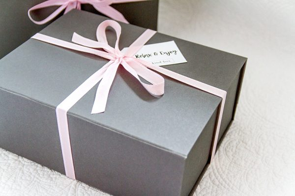 grey gift box packaging