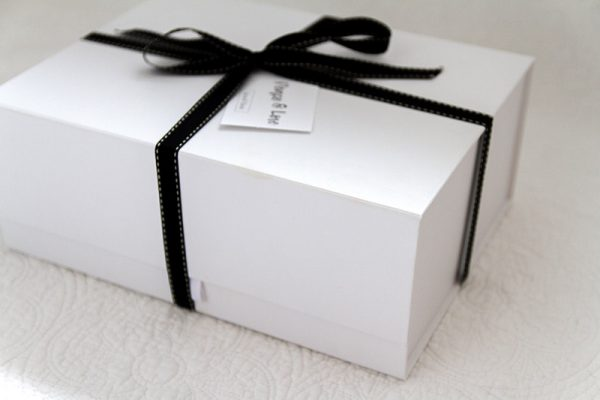 white gift box packaging