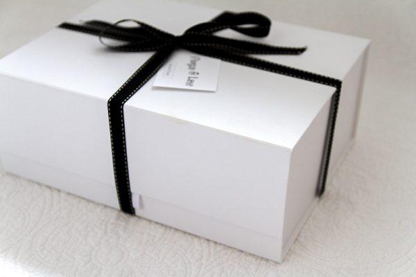 white gift box packaging