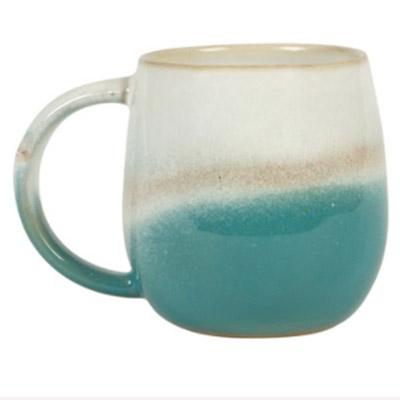 Dip Glazed Ombre Turquoise Mug