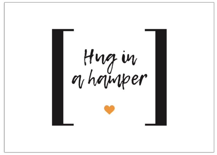 Hug In A Hamper postcard