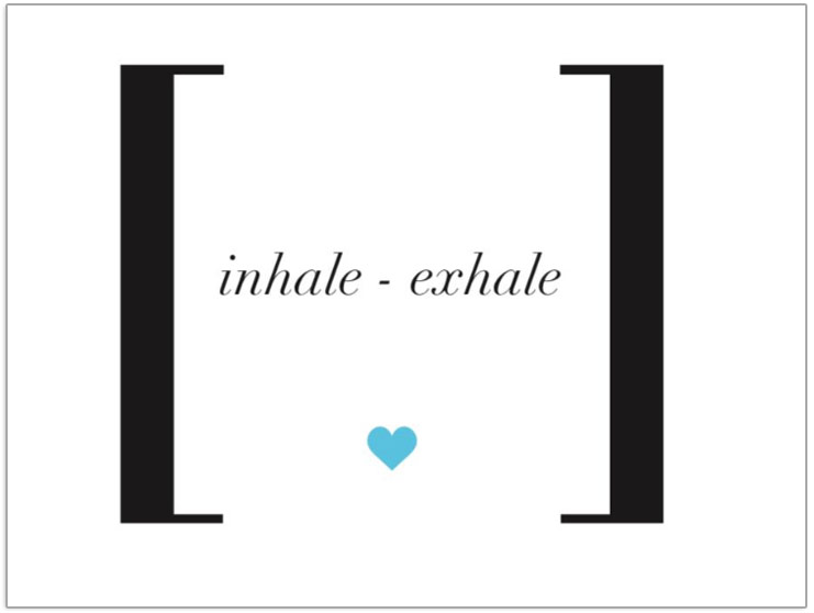 Inhale Exhale tag Postcard
